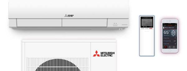 Mitsubishi ductless mini-split air conditioners